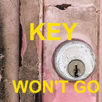 Key won't go all the way into door lock! – Safe and Cosy